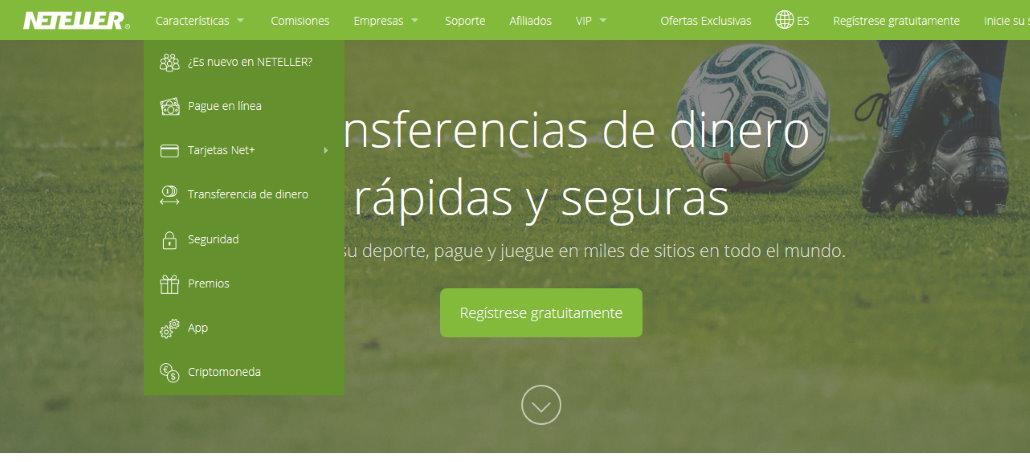 Sitio web de Neteller